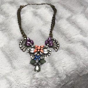 J. Crew Statement Jewel Bronze Chain Necklace